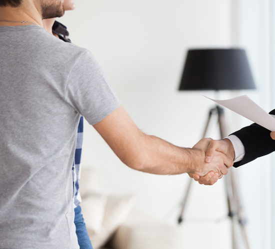 Tenants agree to deal with landlord with a handshake to promote property owners insurance by Evalee Insurance Brokers